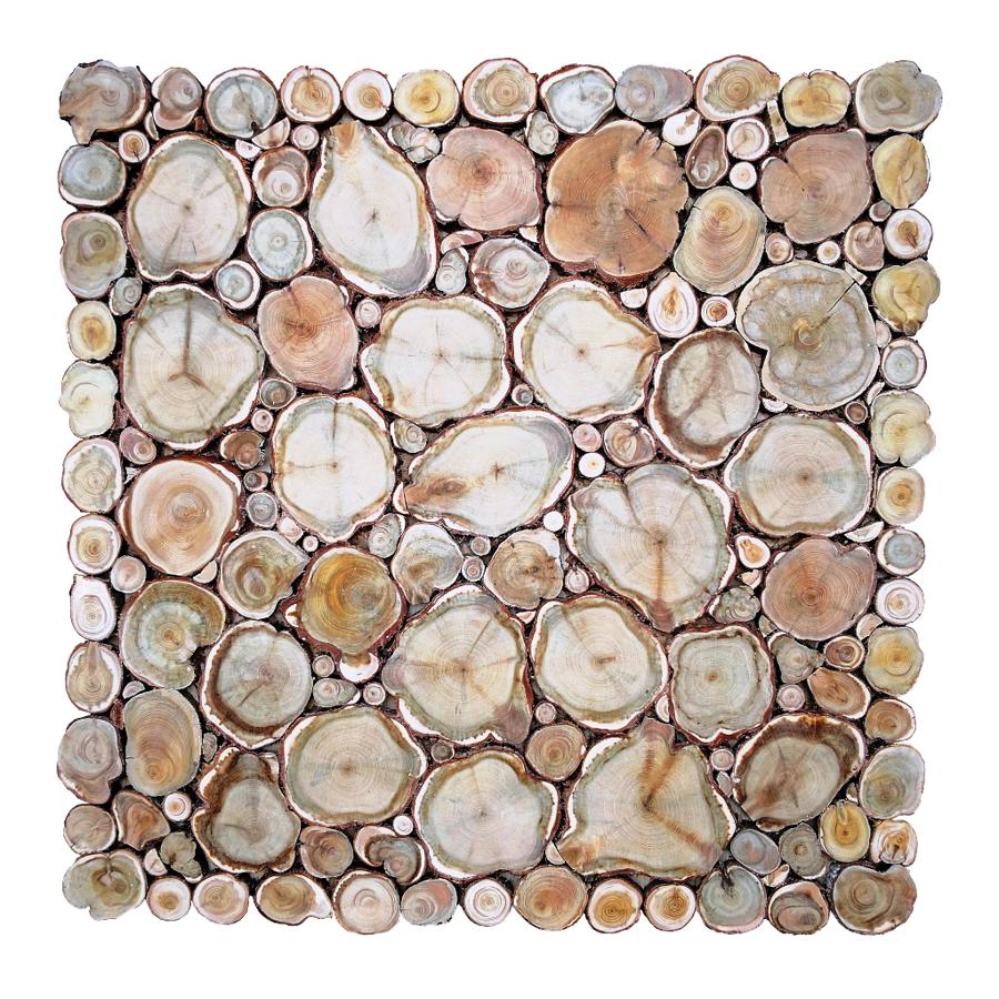 Kadiķa panno uz koka pamatnes (50x50 cm)