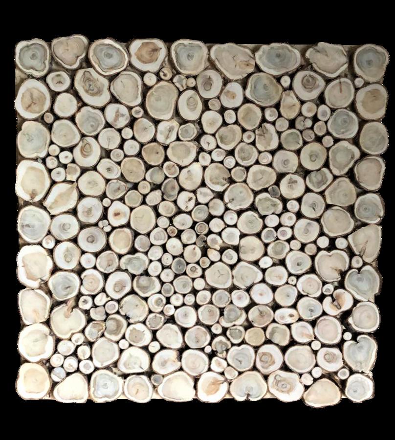 Kadiķa panno uz koka pamatnes (48x48 cm)
