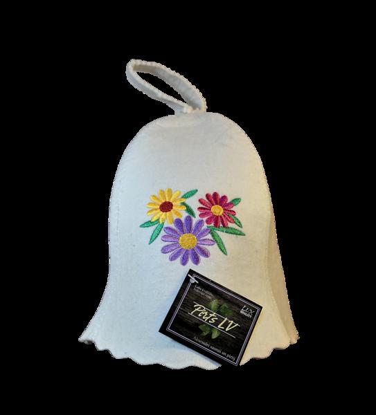 Pirts cepure ar izšuvumu (sieviešu)