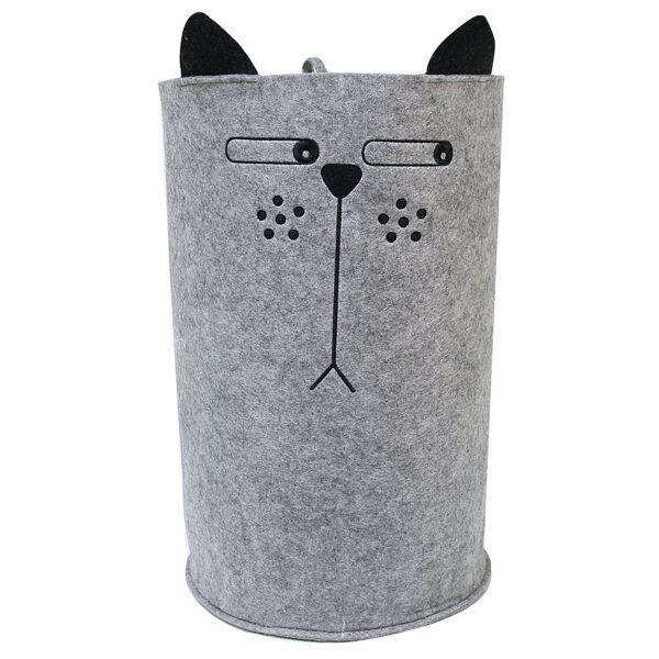 """Auduma kaste mantu glabāšanai """"Domīgais kaķis"""""""