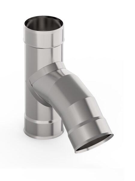 Dūmvada caurules trejgabals (leņķis 45°, D = 115 mm)