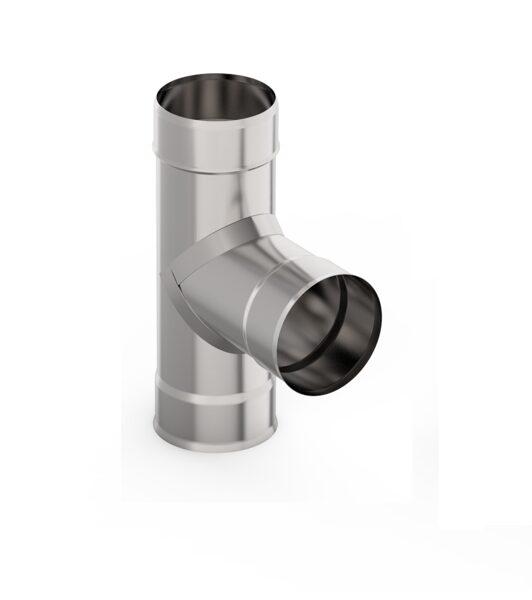 Dūmvada caurules trejgabals (leņķis 90°, D = 115 mm)