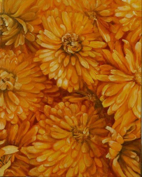 """Glezna """"Oranžais sapnis"""""""