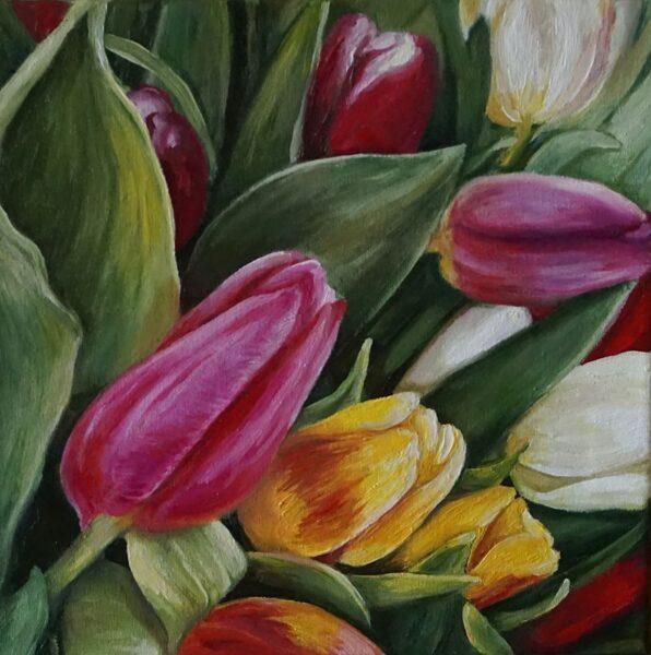"""Glezna """"Pavasara krāsas"""""""