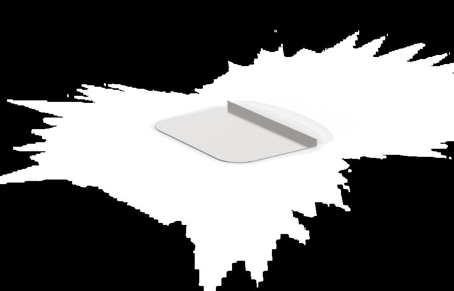 Grīdas aizsardzības plāksne pirts krāsnij (700х480 mm, nerūsējošais tērauds)