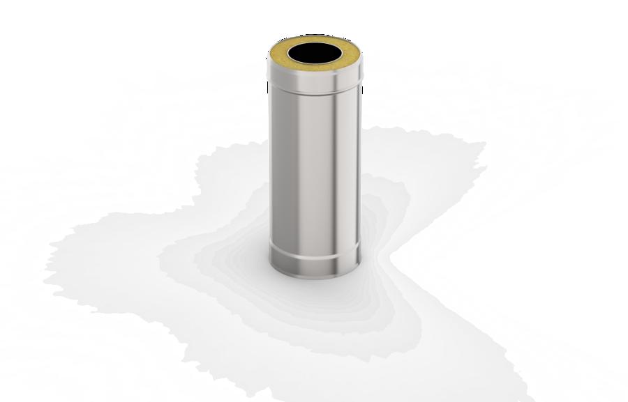 Izolētā dūmvada caurule (D = 115/200; L = 0,5 m)
