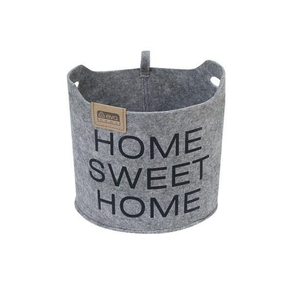 "Auduma kaste mantu glabāšanai ""Home Sweet Home"""