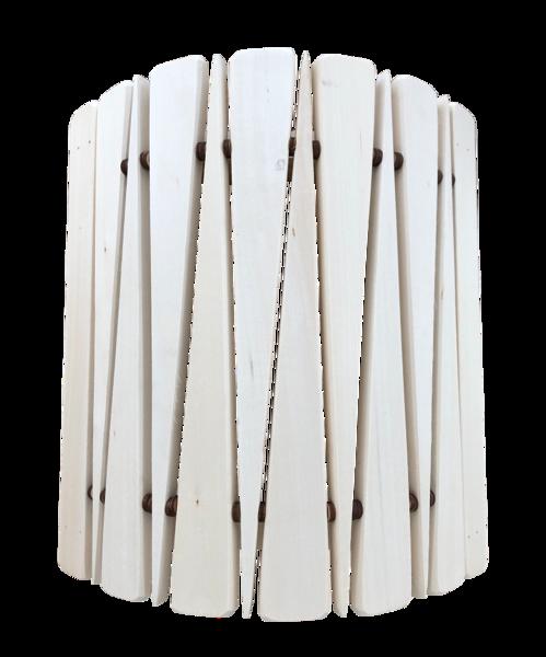 Koka abažūrs pirts lampai (stūra; liepa)