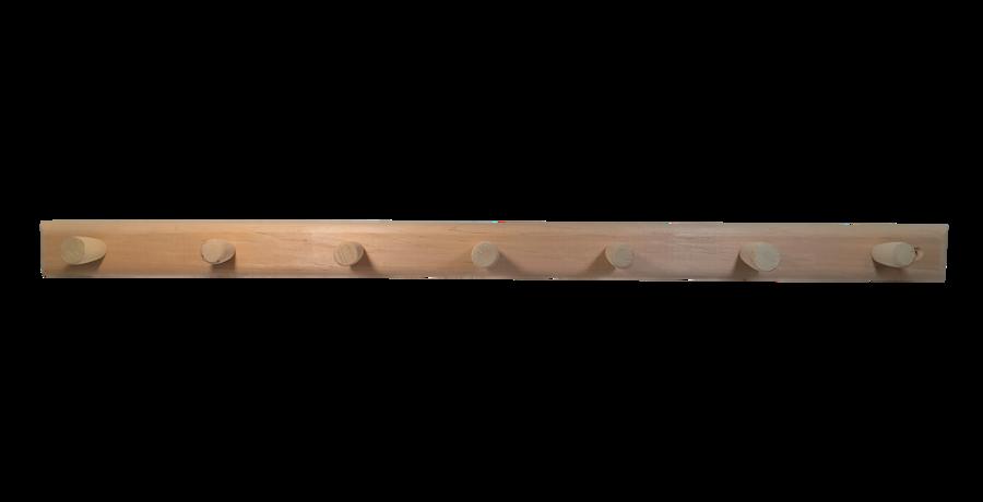 Koka dvieļu pakaramais ar 7 āķiem (melnalksnis)