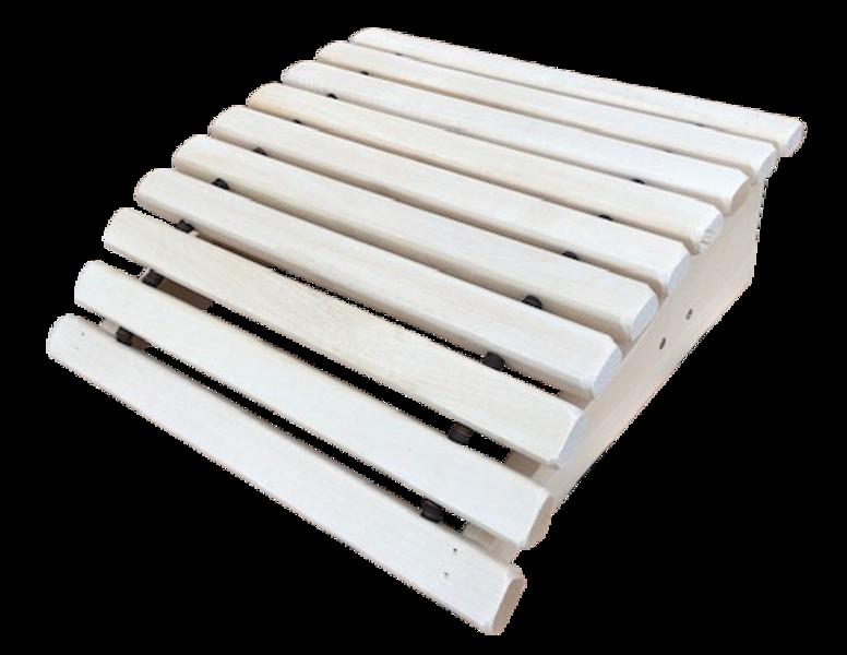 Подголовник для бани и сауны (35x35,5x11,5 см; липа; анатомический)