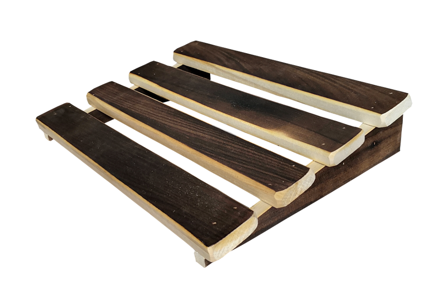 Mazais koka pagalvis ar iededzinātu tonējumu (34,5x25x7 cm; liepa; ciets)