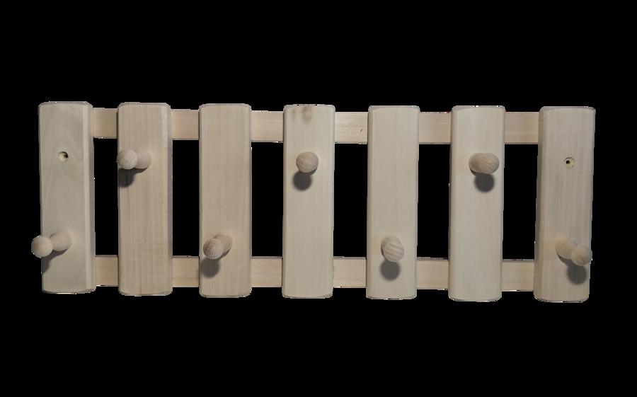 Koka pakaramais ar 7 āķiem