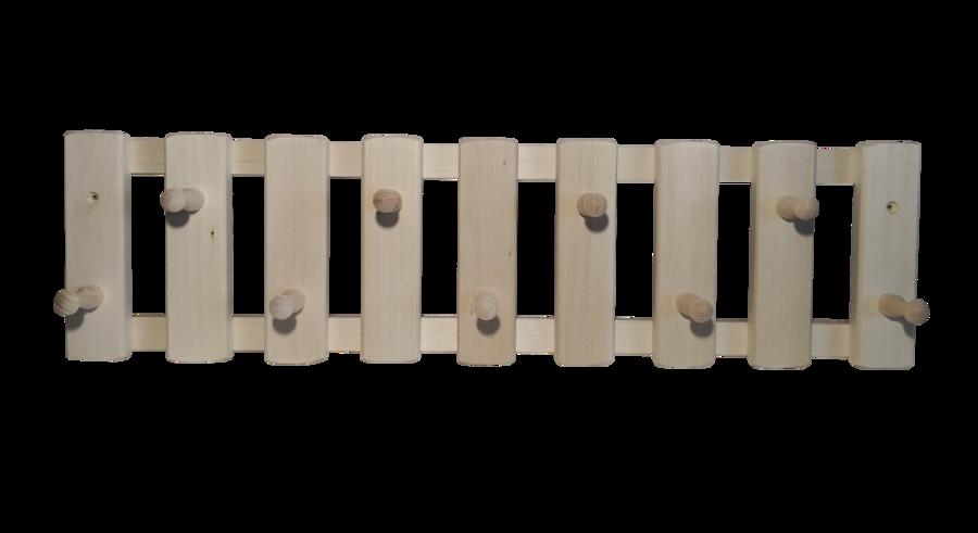 Koka pakaramais ar 9 āķiem