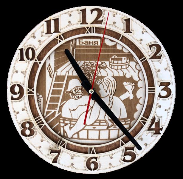 Koka pulkstenis pirtij (liepa)
