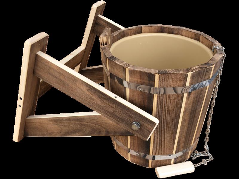 Krievu duša ar plastmasas ieliktni un iededzinātu tonējumu (10 l; liepa)