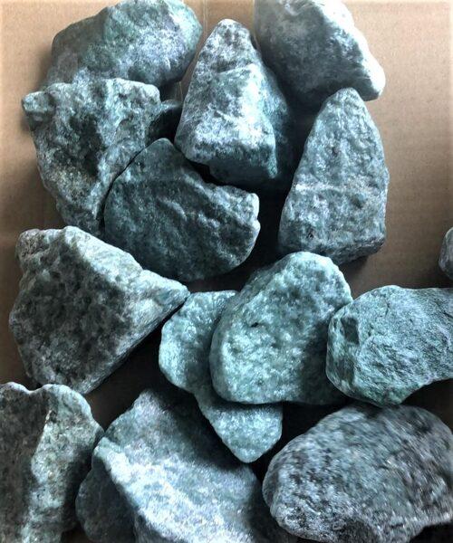 Noapaļots žadeīts (pirts akmeņi; 6-8 cm; 10 kg)