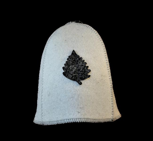Pirts cepure (balta ar pelēku lapiņu)