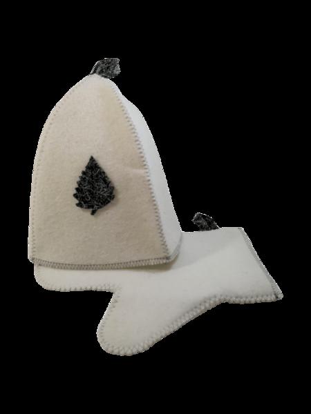 Pirts komplekts (cepure, cimds)