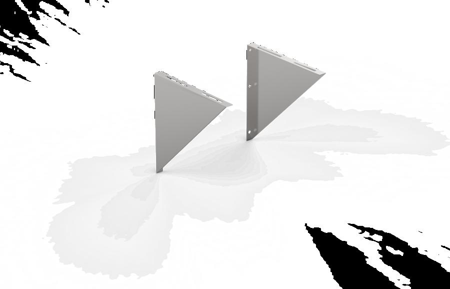 Sienas kronšteins (400x400 mm, nerūsējošais tērauds 2 mm)
