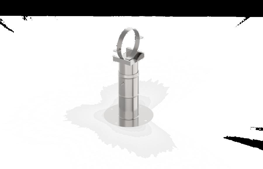 Sienas teleskopiskais kronšteins (D = 115 mm, 20 - 35 cm, nerūsējošais tērauds)