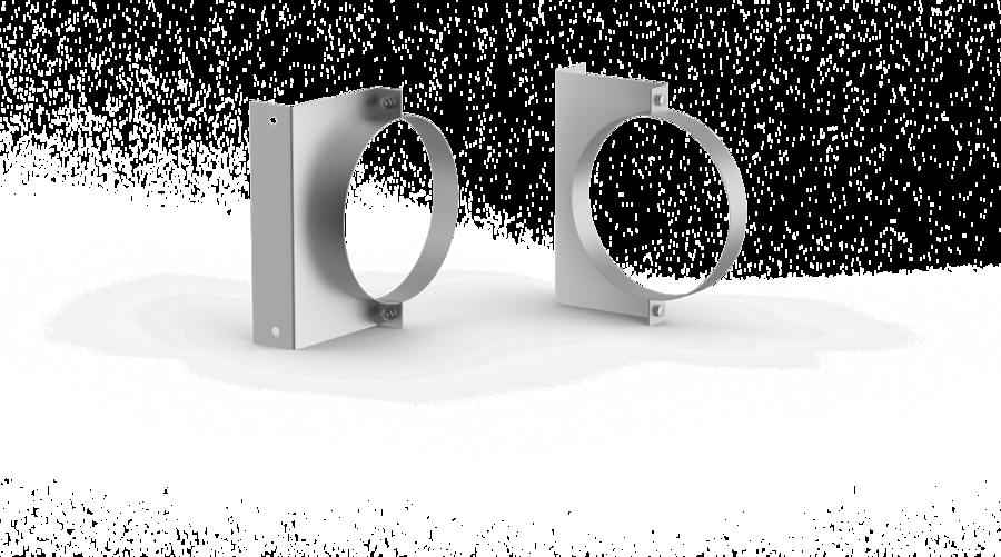 Universāls kronšteins (D = 130 mm, nerūsējošais tērauds)