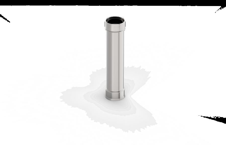 Viensienu dūmvada caurule (D = 150 mm; L = 0,5 m)