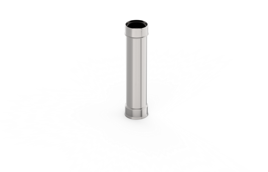 Viensienu dūmvada caurule (D = 130 mm; L = 0,25 m)