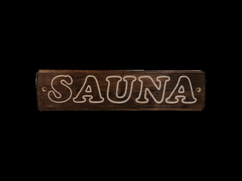 """Koka plāksnīte """"Sauna"""""""